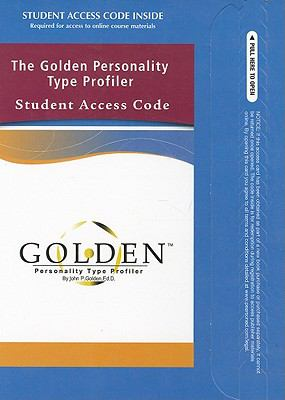 The Golden Personality Type Profiler Student Access Code 9780137066544