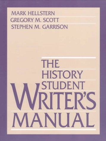 The History Student Writer's Manual 9780138747282