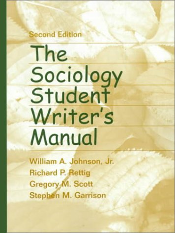 The Sociology Student Writer's Manual 9780130226303