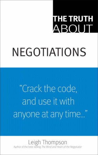 The Truth about Negotiations 9780136007364
