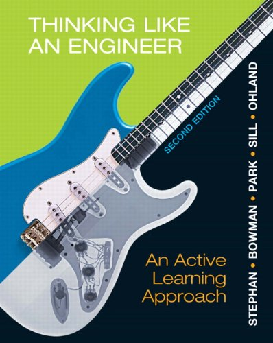 Thinking Like an Engineer: An Active Learning Approach 9780132766715