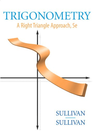 Trigonometry: A Right Triangle Approach [With CDROM] 9780136028963