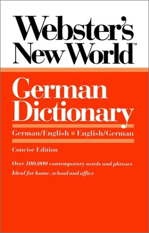 Webster's New World German Dictionary: German/English English/German 9780139536212