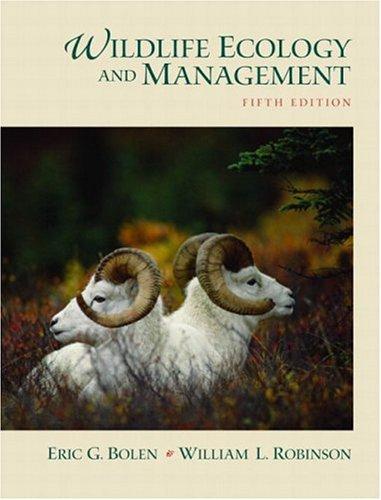Wildlife Ecology and Management 9780130662507