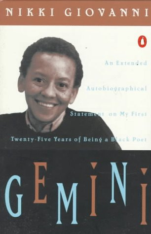 Gemini: An Extended Autobiographical Statement My 1st 20 5 Years Being Black Poet 9780140042641