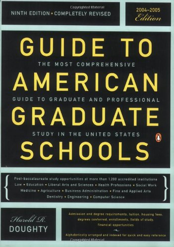 Guide to American Graduate Schools: Ninth Edition, Completely Revised 9780142003978