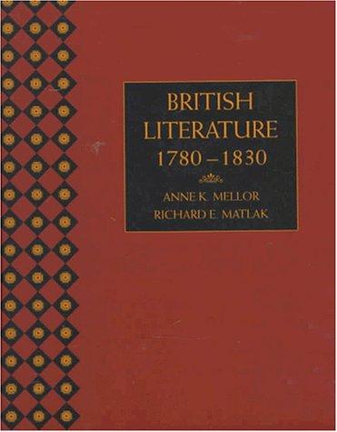British Literature: 1780 - 1830 9780155002609