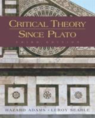 Critical Theory Since Plato 9780155055049