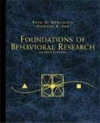 Foundations of Behavioral Research 9780155078970