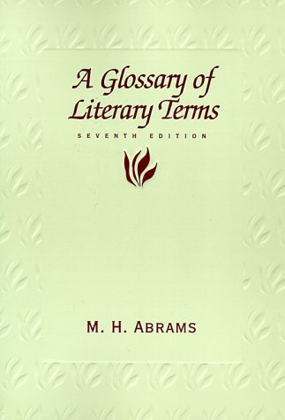 Glossary of literary terms abrams