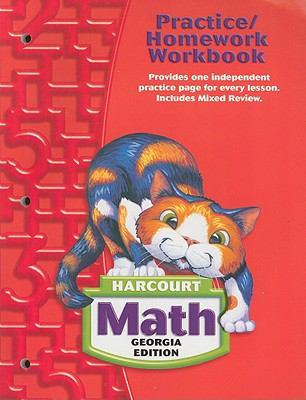 Harcourt Math Georgia Edition Practice/Homework Workbook 9780153495403