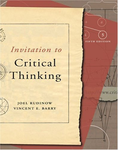 Invitation to Critical Thinking [With Infotrac] 9780155058835