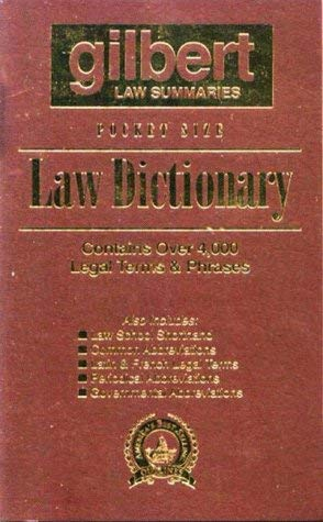 Pocket Size Law Dictionary, 2D (Brown) 9780159002520
