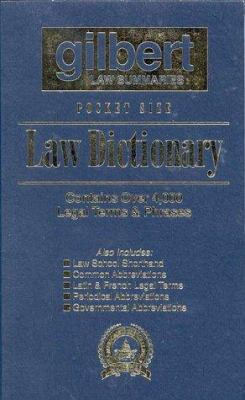 Pocket Size Law Dictionary, 2D (Flag Blue)