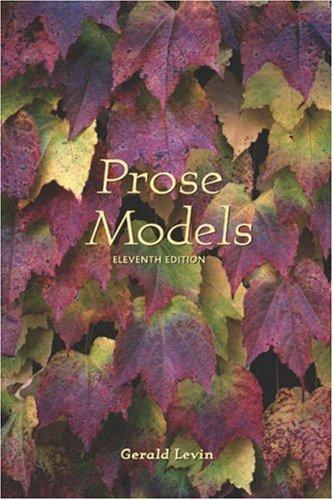 Prose Models 9780155064041