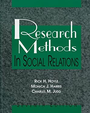 Research Methods in Social Relations 9780155061392