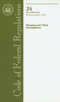 Housing and Urban Development, Part 1700 to End 9780160828966