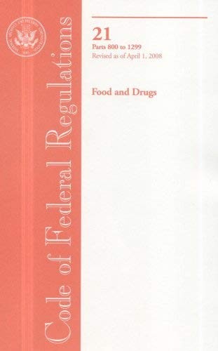 Food and Drugs: Parts 800 to 1299 9780160805714