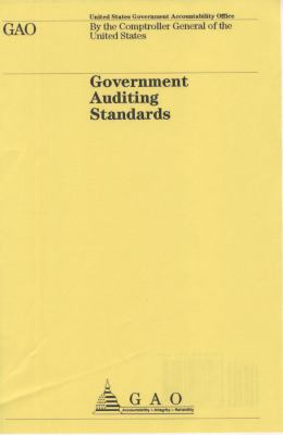 Government Auditing Standards, 2007 9780160780288