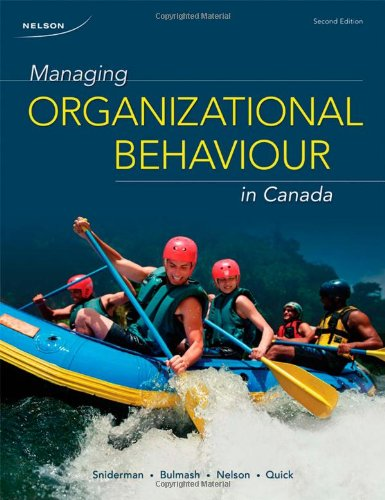 Managing Organizational Behaviour in Canada 9780176500047