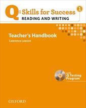 Q: Skills for Success: Reading & Writing 1 Teacher's Handbook [With CDROM]