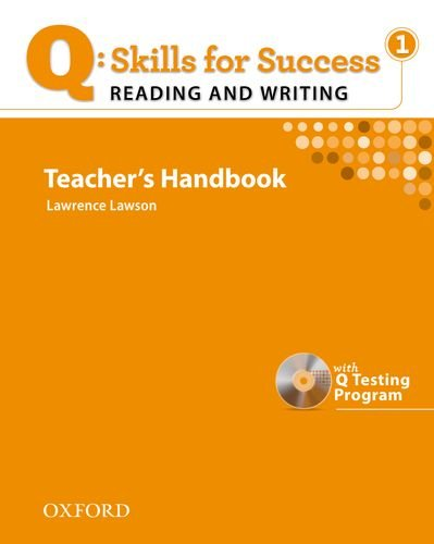 Q: Skills for Success: Reading & Writing 1 Teacher's Handbook [With CDROM] 9780194756273