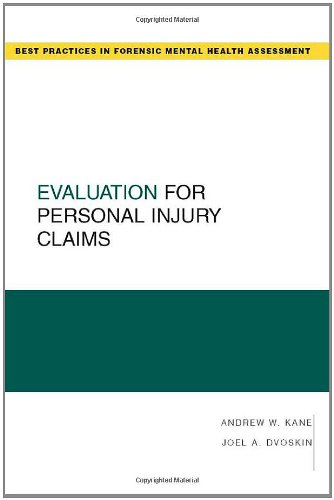 Evaluation for Personal Injury Claims 9780195326079