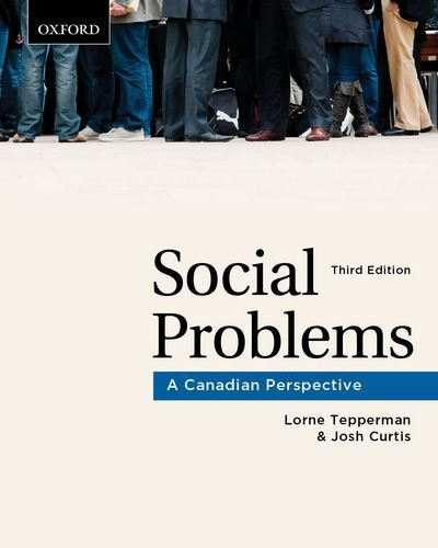 Social Problems: A Canadian Perspective 9780195432398