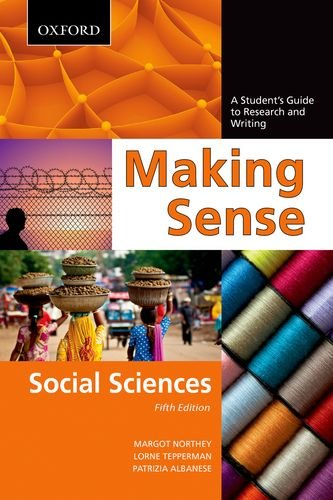 Making Sense: Social Sciences: A Student's Guide to Research and Writing 9780195445831