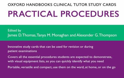 Oxford Handbooks Clinical Tutor Study Cards: Procedures 9780199582822