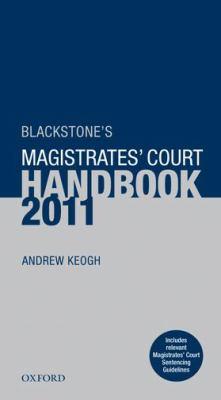 Blackstone's Magistrates' Court Handbook 9780199589203