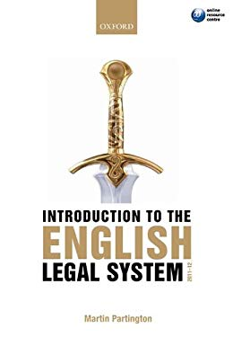 Introduction to the English Legal System 9780199601806