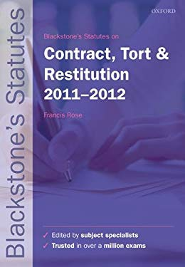 Blackstone's Statutes on Contract, Tort and Restitution 9780199692477