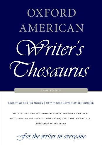 Oxford American Writer's Thesaurus 9780199829927