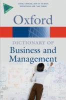 A Dictionary of Business and Management 9780199234899