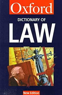 A Dictionary of Law 9780192800664