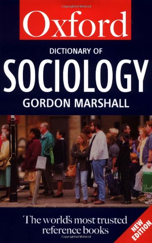 A Dictionary of Sociology 9780192800817