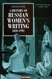 A History of Russian Women's Writing 1820-1992 560701