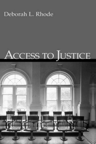 Access to Justice 9780195143478