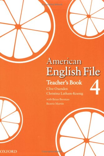 American English File 4 Teacher's Book 9780194774659