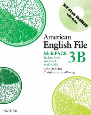 American English File Level 3 Student and Workbook Multipack B 9780194774574