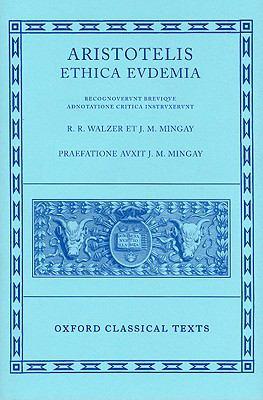 Aristotelis Ethica Evdemia 9780198145752