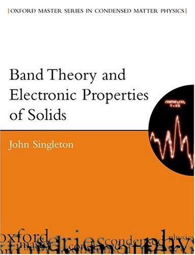 Band Theory and Electronic Properties of Solids 9780198506447