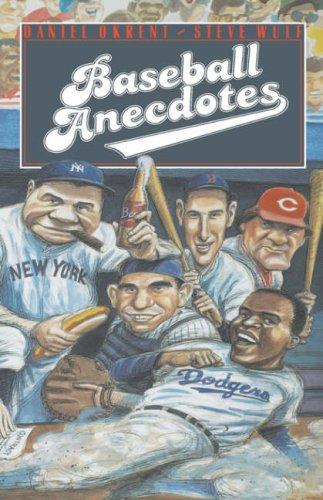 Baseball Anecdotes 9780195043969