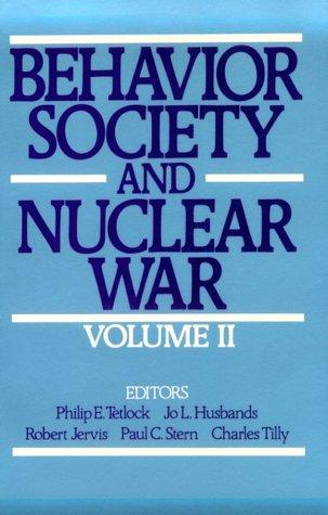 Behavior, Society, and Nuclear War: Volume II 9780195057683
