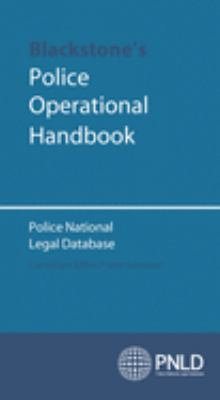 Blackstone's Police Operational Handbook: Police National Legal Database 9780199289240