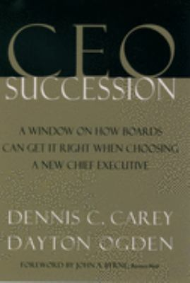 CEO Succession 9780195127133
