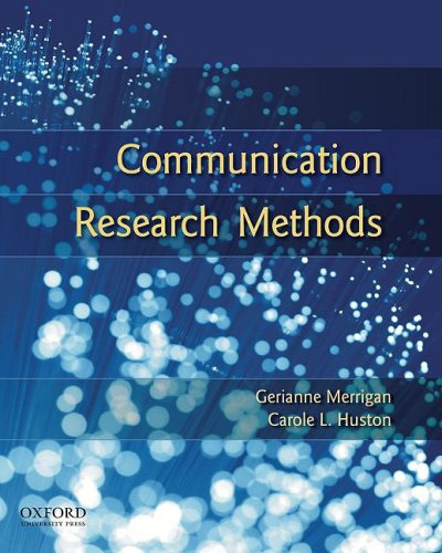 Communication Research Methods 9780195314823