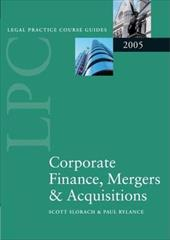 Corporate Finance, Mergers & Acquisitions 2005 581165