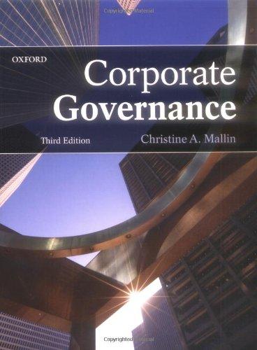 Corporate Governance 9780199566457